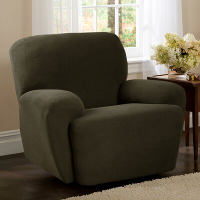 4 Piece Recliner Slipcover Upholstery: Dark Olive