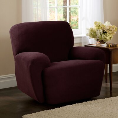 T-Cushion Recliner Slipcover Upholstery: Wine