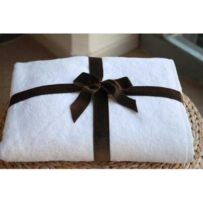 100% Turkish Cotton Soft Twist Bath Sheet Color: White
