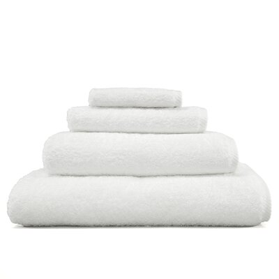 100% Turkish Cotton Soft Twist 4 Piece Towel Set Color: White