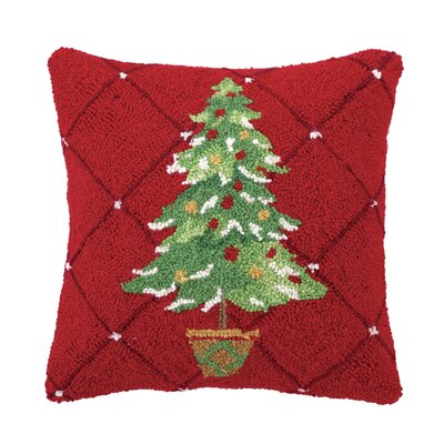 Theiss Tree in Pot Hook Wool Throw Pillow