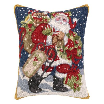 Theiss Snowy Night Hook Wool Throw Pillow