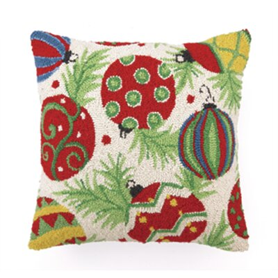 Theiss Ornaments Hook Wool Throw Pillow