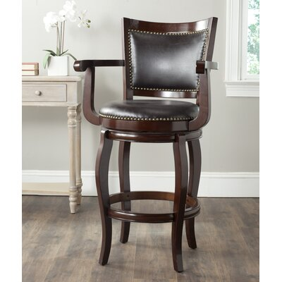 Ghia 30.9 Swivel Bar Stool Finish: Sierra Brown, Upholstery: Brown