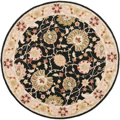 Chuckanut Floral Area Rug Rug Size: Round 8