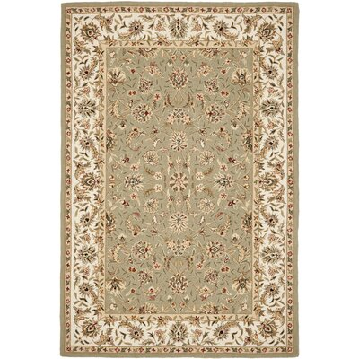 Chuckanut Hand-Hooked Wool Sage/Ivory Area Rug Rug Size: Rectangle 6' x 9'