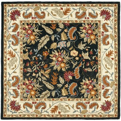 Chuckanut Black Rug Rug Size: Rectangle 18 x 26