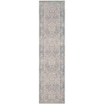 Patina Gray Area Rug Rug Size: Runner 22 x 8