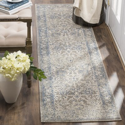 Patina Gray Area Rug Rug Size: Runner 22 x 12
