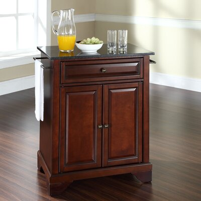 Abbate Kitchen Cart with Granite Top Base Finish: Vintage Mahogany