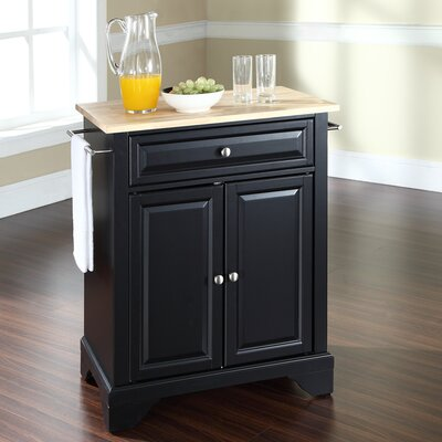 Abbate Kitchen Cart Base Finish: Black