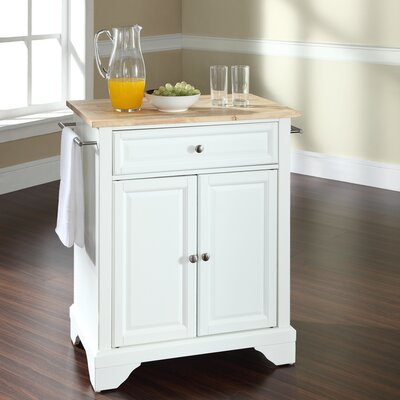 Abbate Kitchen Cart Base Finish: White