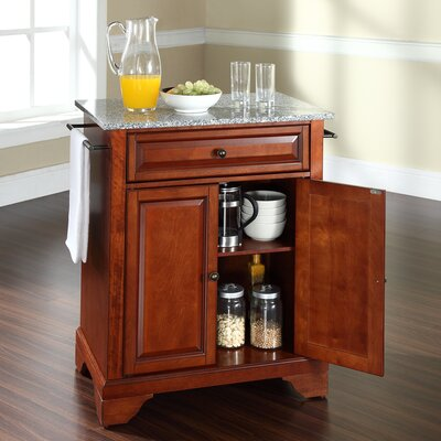 Abbate Kitchen Cart with Granite Top Base Finish: Classic Cherry