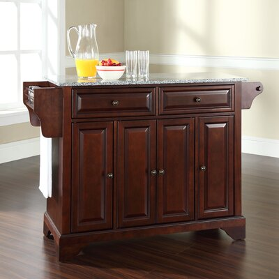 Abbate Kitchen Island with Granite Top Base Finish: Vintage Mahogany