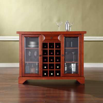 Abbate Sliding Top Bar Cabinet Finish: Classic Cherry