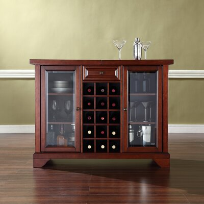 Abbate Sliding Top Bar Cabinet Finish: Vintage Mahogany