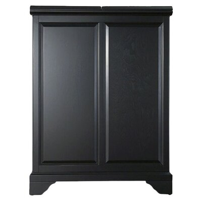 Abbate Bar Cabinet Finish: Black