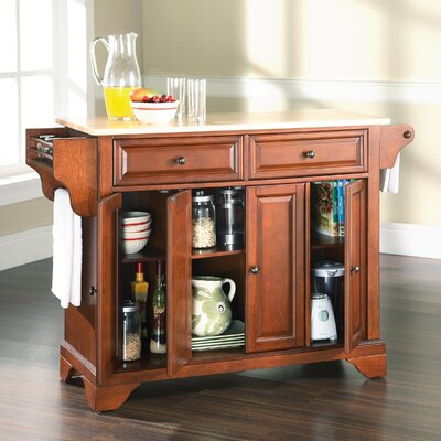 Abbate Kitchen Island with Wood Top Base Finish: Classic Cherry