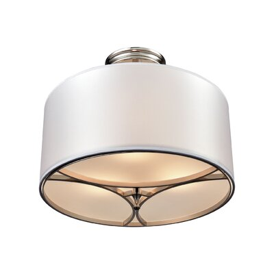 Shawna 3-Light Semi Flush Mount Finish: Polished Nickel/Silver