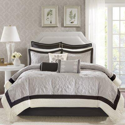 Kristie 9 Piece Comforter Set Size: Queen