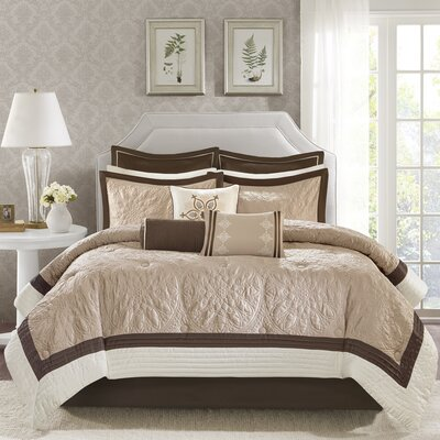 Kristie 9 Piece Comforter Set Size: King