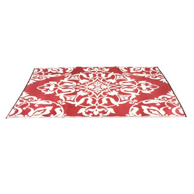 Tammie Reversible Indoor/Outdoor Doormat Mat Size: Rectangle 5 x 8, Color: Bright Red/White