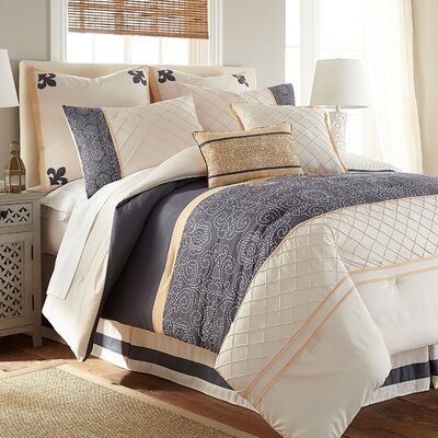 Patrice 8 Piece Comforter Set Size: Queen