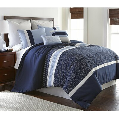 Sherrie 8 Piece Comforter Set Size: King