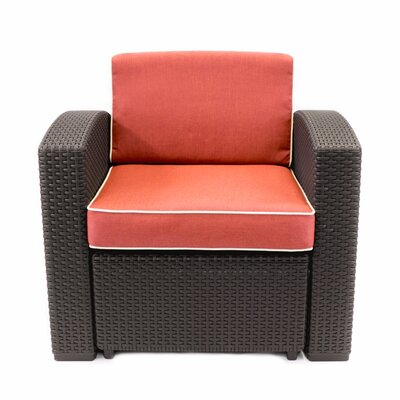 Francine Outdoor Patio Weather Resistant Armchair with Cushions
