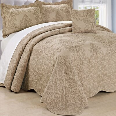 Lucinda Quilt Set Size: Queen, Color: Incense