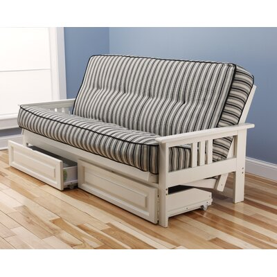 Etta Futon and Mattress Frame Finish: White