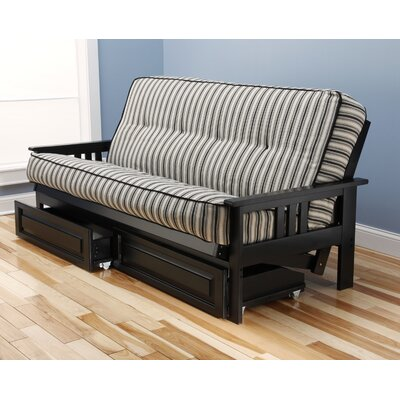 Darby Home Co DBYH8499 Etta Futon and Mattress Frame Finish