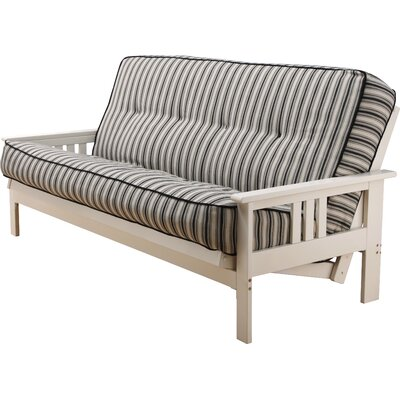 Etta Futon and Mattress Frame Finish: Antique White