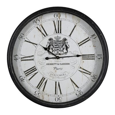 "Round Black Metal 31"" Clock DBYH8501 38154300"