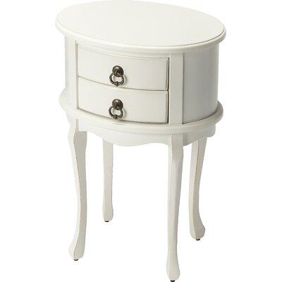 Trisha End Table Color: White