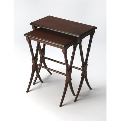 Francisca 2 Piece Nesting Tables Finish: Brown
