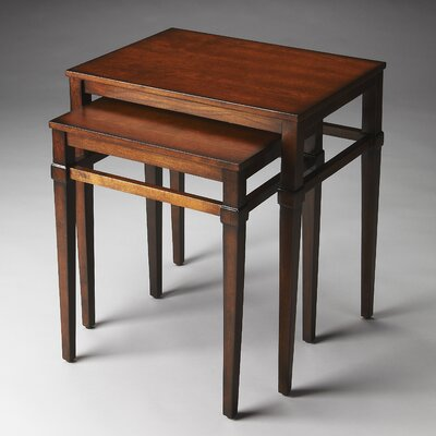Kelsey 2 Piece Nesting Tables Finish: Plantation Cherry