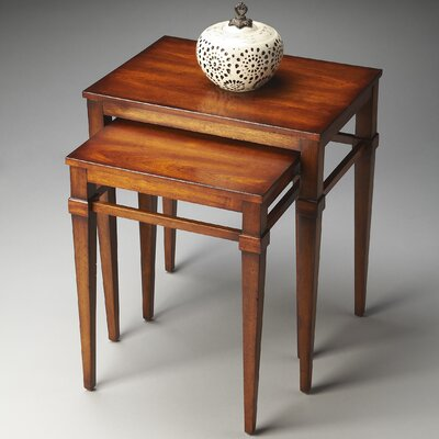 Kelsey 2 Piece Nesting Tables Finish: Cherry