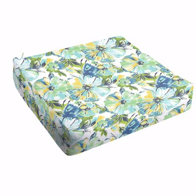 Shoffner Floral Square Outdoor Dining Chair Cushion