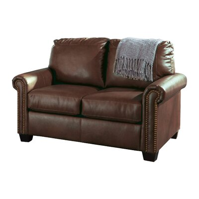 Alper Twin Sleeper Loveseat Upholstery: Chocolate