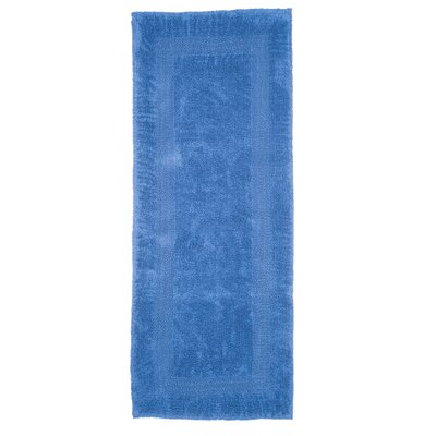 Berndt Extra Long Reversible Bath Rug Color: Blue