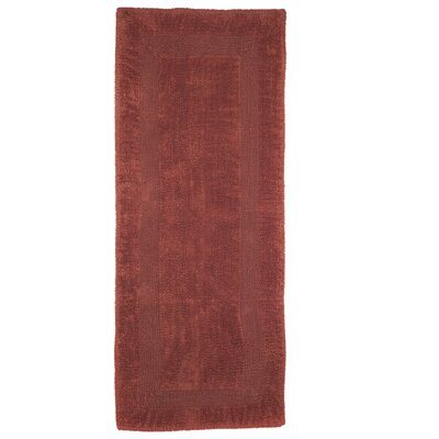 Berndt Extra Long Reversible Bath Rug Color: Brick
