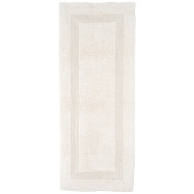 Baysview Extra Long Reversible Bath Rug Color: Ivory