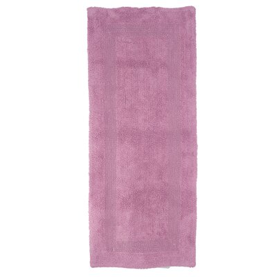 Berndt Extra Long Reversible Bath Rug Color: Rose