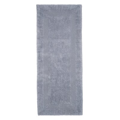 Berndt Extra Long Reversible Bath Rug Color: Silver