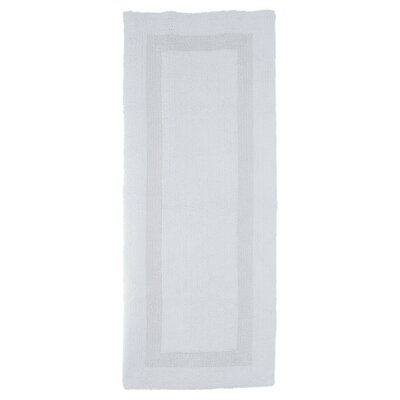 Baysview Extra Long Reversible Bath Rug Color: White