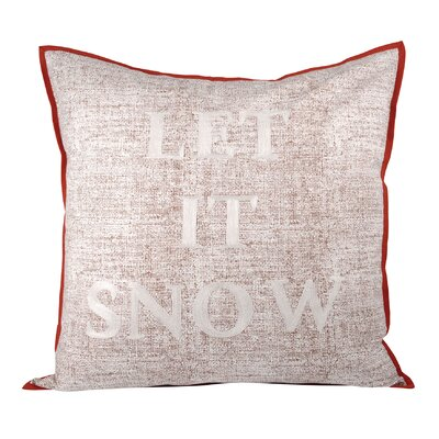 Beckon Let It Snow Cotton Throw Pillow