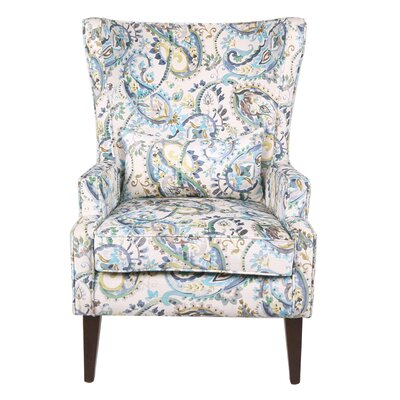 Godfrey Paisley Wingback Chair