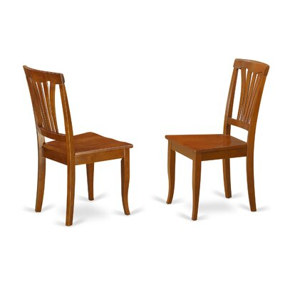 Attamore Solid Wood Dining Chair (Set of 2) Finish: Saddle Brown