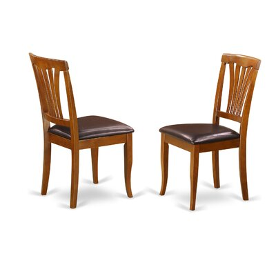 Attamore Side Chair in Faux Leather (Set of 2) Color: Saddle Brown